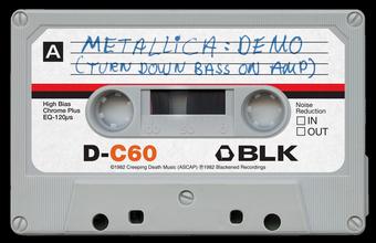 メタリカ・デモ音源カセットテープ