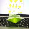不器用でも折れた。サイトを見ながら折り紙やってみた。