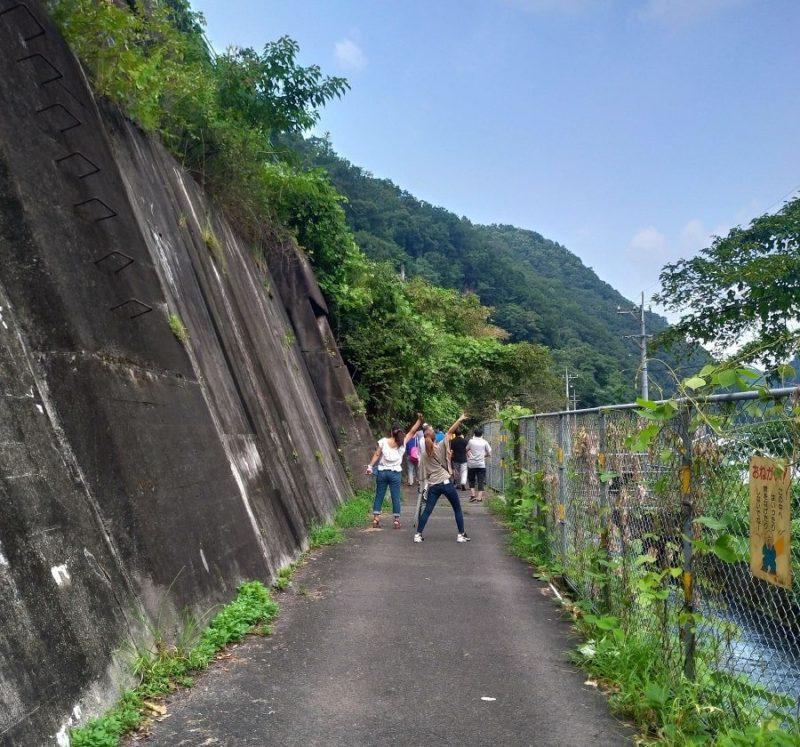 庄内川沿いを歩く