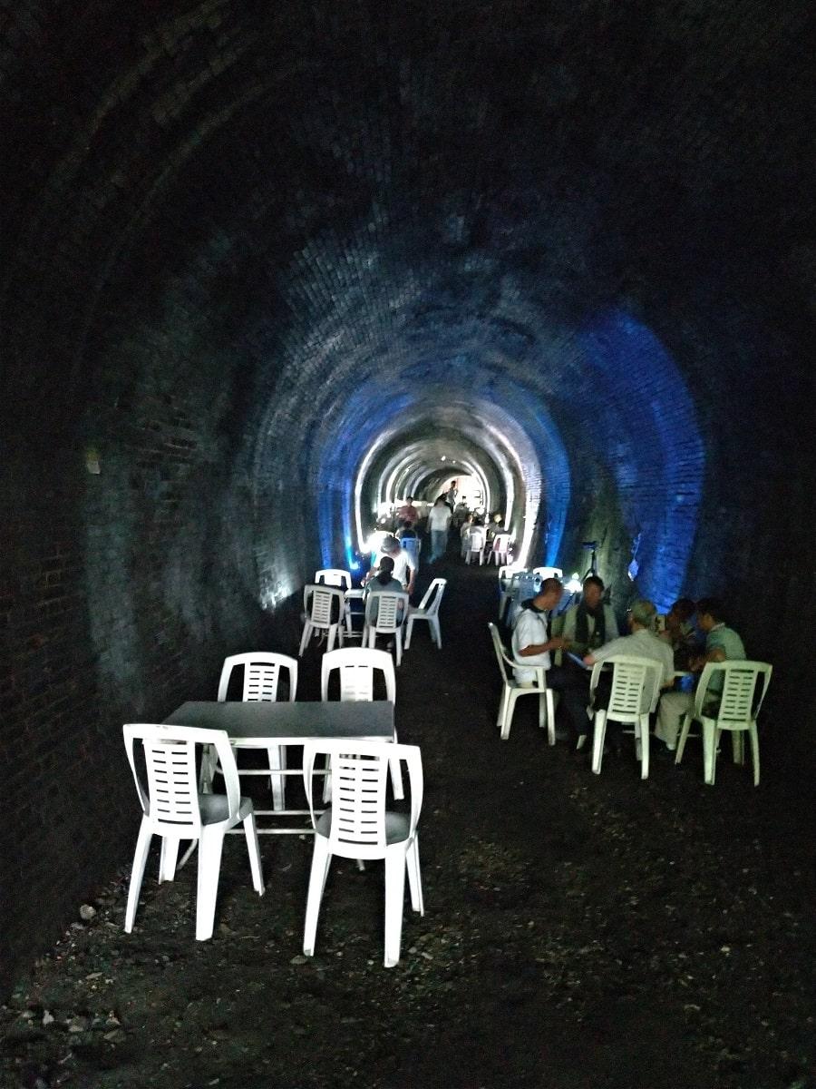 愛岐トンネル群3号トンネルの中