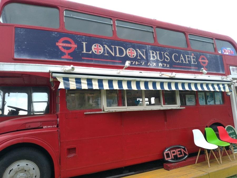 ロンドンバスカフェ横